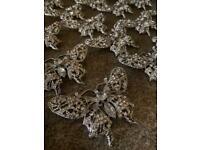 Vintage silver brooches(wedding)