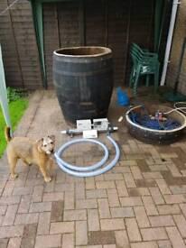 Whisky barrel hot tub lazy spa pump/heater