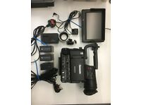 Panasonic AG101E professional camera with many accessories