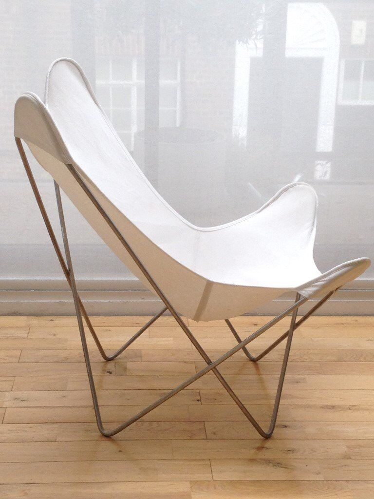 Butterfly Chair (also known as BKF Chair or Hardoy Chair) - White ...