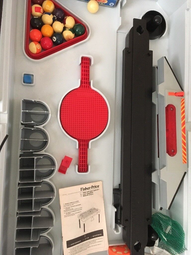 Fisher price 3in1 pool table