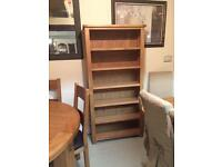 Tall large solid oak bookcase new