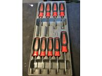 Snap on 9pc torx driver set in tray instinct
