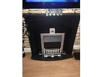 Painted electric fire place
