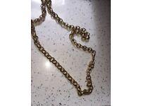 83.5 gram 9ct gold belcher chain with patterns