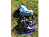 Black mystique ice skates size 7 (fits shoe size 5)
