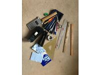 Stationery set including many items useful for the office (some branded)