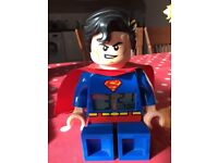 Lego superman digital alarm clock