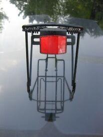 Bicycle rack pannier carrier