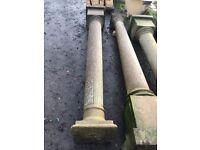 Reconstituted stone columns