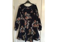 Myleene Klass Dress, size 10, navy blue with pink flowers, as new