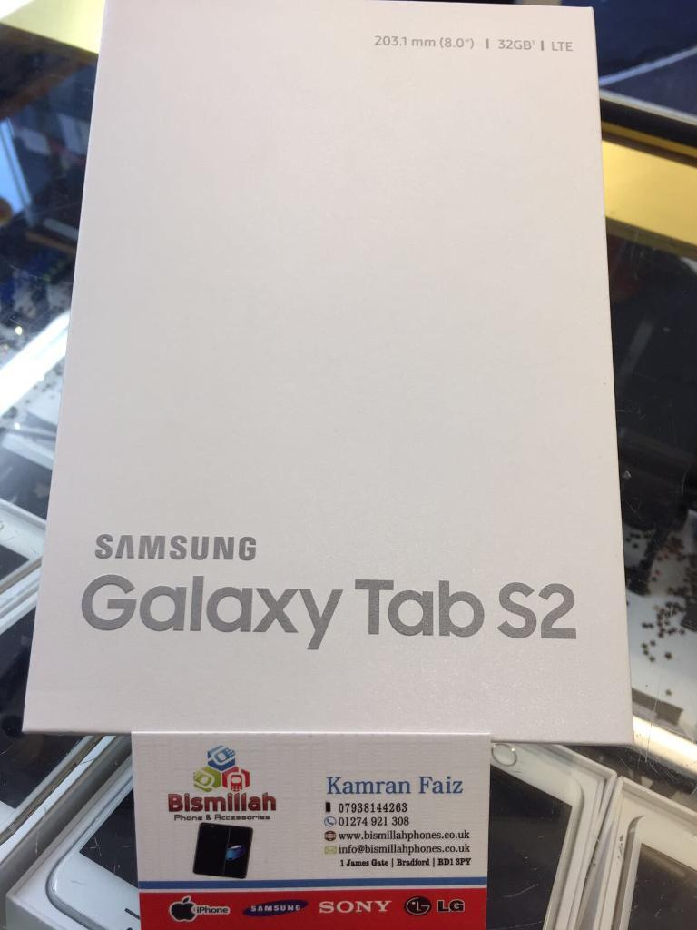 SAMSUNG GALAXY TAB S2 32GB 4Gwifi BRAND NEW SEQL BOX TWO YEAR SAMSUNG WARRANTYSHOP RECEIPTin Bradford, West YorkshireGumtree - SAMSUNG GALAXY TAB S2 32GB 4G & wifi BRAND NEW SEQL BOX TWO YEAR SAMSUNG WARRANTY & SHOP RECEIPT Free Tempered Glass Or Coverpickup fromBISMILLAH PHONES ph 12749213081 James gate BD1 3JY/// NO TIME WASTERS PLEASE