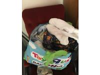 Large bag of baby boy clothes size 0-3 some small baby stuff as well