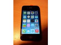 Apple iphone 4 16GB in Black & Silver Locked to o2/gifgaf
