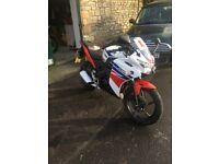 Honda CBR 125 R-F White Motorcycle