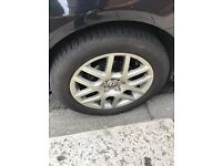 Alloy wheels 5x100 pcd with tyres 205/55/16