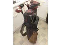 Golf Bag with lot of sticks, all used, quality stuff. Cheap Bargain