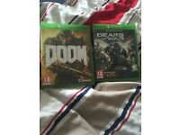 Doom and Gears of war 4 Xbox one