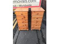Solid oak wood chest of drawers £49 each
