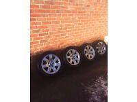 BMW AOLLY WHEELS WITH TYRES