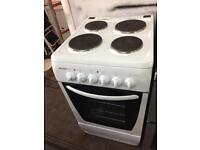 White bush 50cm electric cooker grill & oven good condition with guarantee
