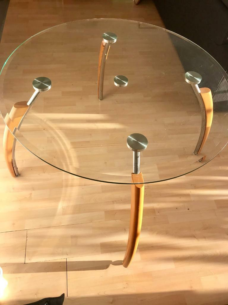 Large Round Glass Dining Table 4 Or 6 Seater In London Gumtree