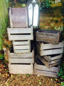 Vintage stamped Apple Crates