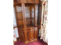 Two display cabinets with matching sideboard / coffee table