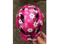 Girl cycle helmet - age circa 4-6