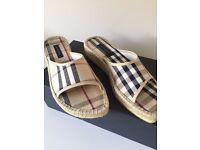 Burberry Nova Check Mule Sandals size 37 / 4