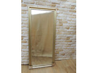 Large Stylish Silver Gold Mirror x 2 available (Delivery)