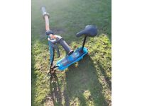 Two zinc electric scooters