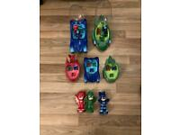 PJ masks bundle including Transformer toy and card and figures