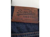 Mens Superdry jeans size 32 waist 32L leg worn once