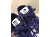 Adidas navy blue suede shoes