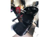 Black Hair dressing sink and basen