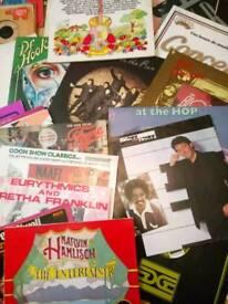 Large vinyl bundle lps and singles