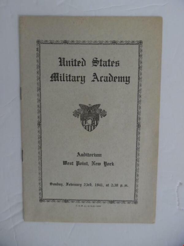 1941 Julliard School of Music Symphony Orchestra West Point USMA Concert Program