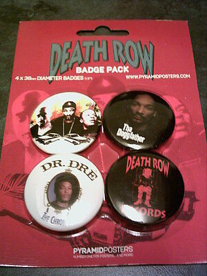Death Row - Pack of 4 x 38mm Button Badges