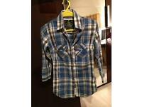 Superdry checked shirt- Extra Small