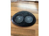 Pepper & Salt tray, solid marble