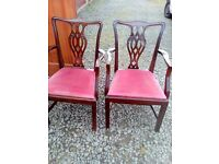 4 carver wooden dining chairs