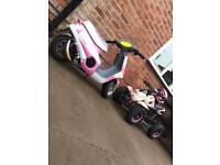 KIDS XMAS MINI MOTO MOPED VERY RARE PINK MONSTER ENERGY 50cc