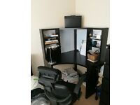 IKEA MICKE black corner desk AND mesh office chair, great for students or home office