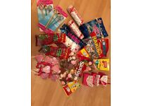 Large selection of sweets ideal for sweetie cart