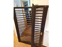 Wooden double bed frame - excellent condition