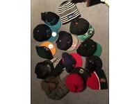 Selection of caps and hats