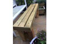 Handmade solid treated wood garden bench