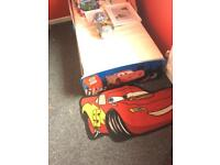Cars toddler Bed and accessories see pics