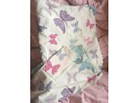 Single butterfly duvet cover and pillowcase